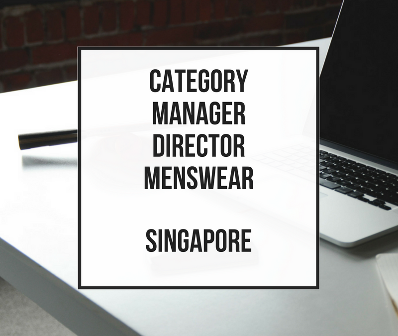 Category Manager Director para Menswear