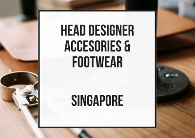 Head Senior Designer Accesories and Footwear