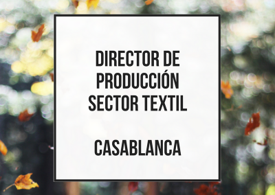 Production Manager textil – Casablanca