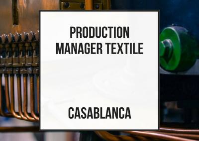 Director de Producción / Coordinador de Fábricas externas – Casablanca