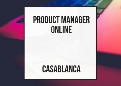 Product Manager / Sales Manager Online – Casablanca