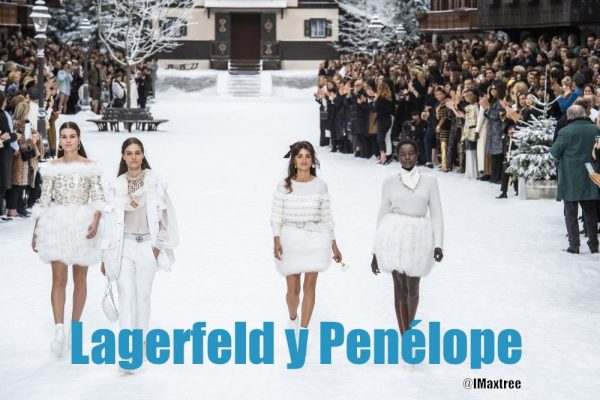 The parade of Lagerfeld's friends with Penelope Cruz